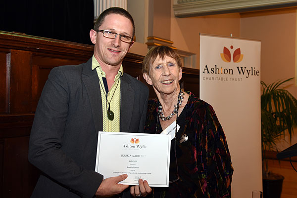 Book Award winner Scottie Reeve with Joan-Rosier Jones