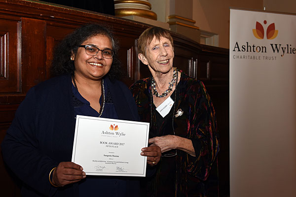 Sangeeta Sharma with judge Joan-Rosier Jones